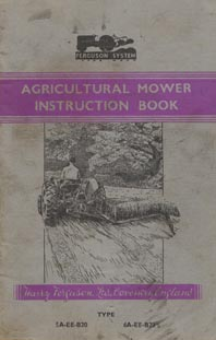 Mower instruction book