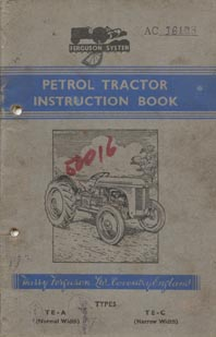 TE 20 Instruction book for a later model TE 20
