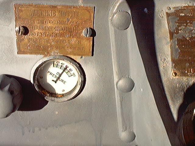 Brass warning plate